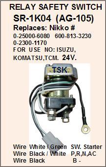 Starter Relay,Safety Relay: SR-1K04A,(AG-105R) on